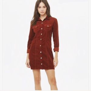 » Corduroy shirt dress